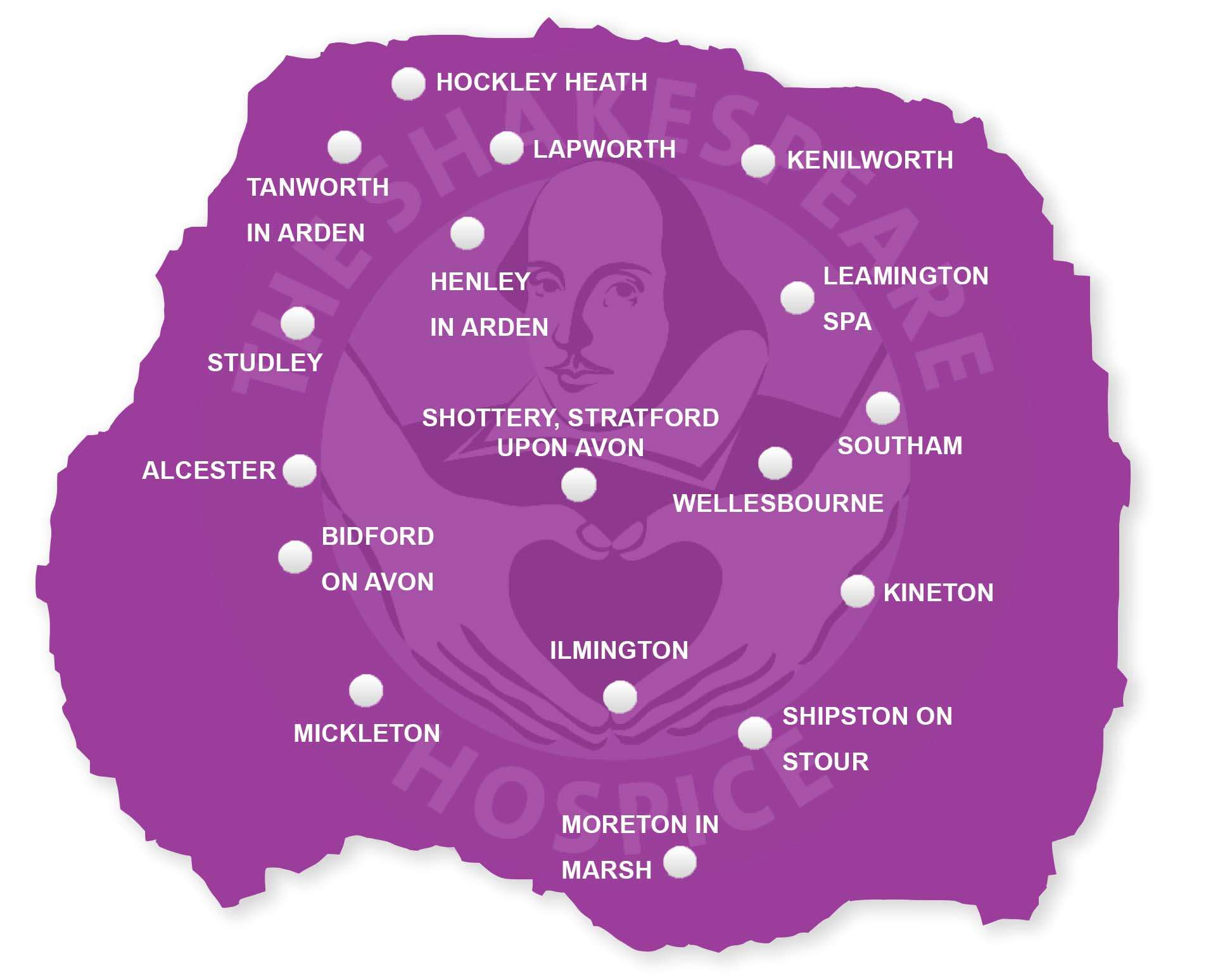 Hospice at Home map